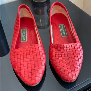 Cole Haan Dunbar red flats vintage 90's size 10
